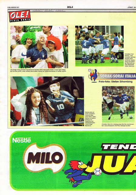 ITALY FANS ON WORLD CUP 1998