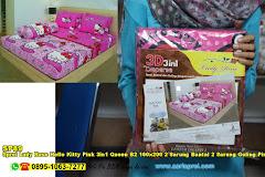 Sprei Lady Rose Hello Kitty Pink 3in1 Queen B2 160×200 2 Sarung Bantal 2 Sarung Guling Pink Merah Jambu Putih Kartun Anak Remaja Dewasa Polyester