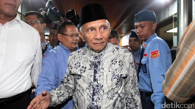 Tuding Presiden Ngibul, Amien Rais Kena Skak Mat, 'Sebagai Tokoh Bangsa, harusnya Husnuzon ke Jokowi'
