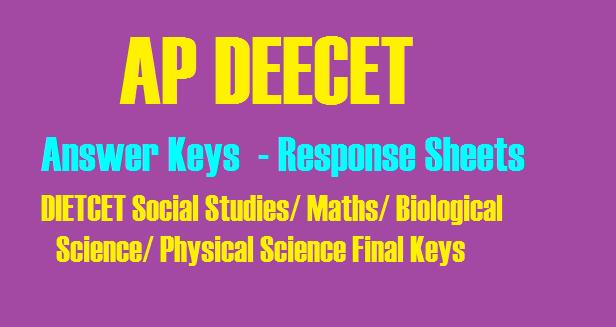AP DEECET 2019 Answer Keys Response Sheets | apdeecet apcfss in