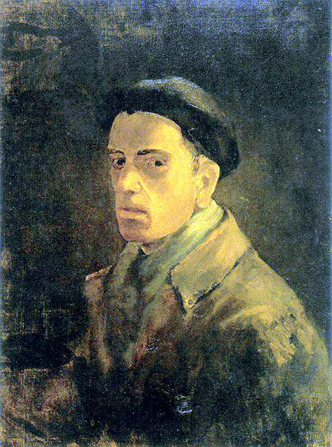 Eduardo Vicente Pérez, Self Portrait, Portraits of Painters, Fine arts, portraits of painters blog, Paintings of Eduardo Vicente Pérez, Painter  Eduardo Vicente Pérez