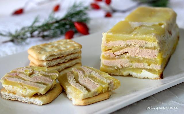 Mil hojas de foie y manzana. Julia y sus recetas