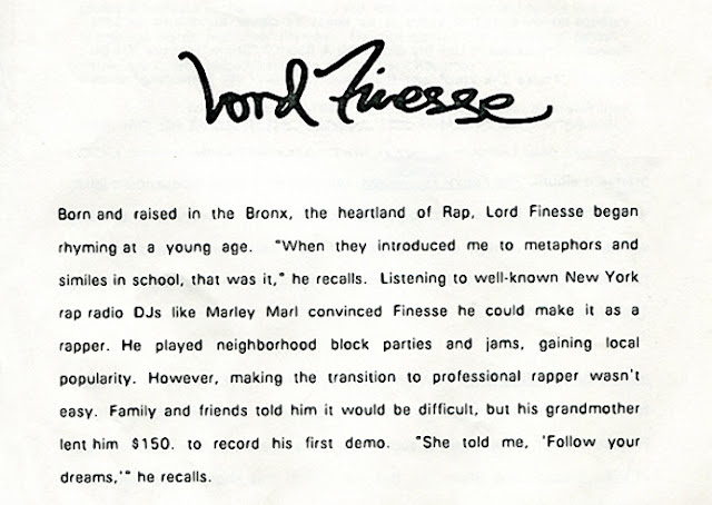Lord Finesse Press Kit