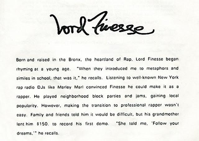 Lord Finesse Press Kit
