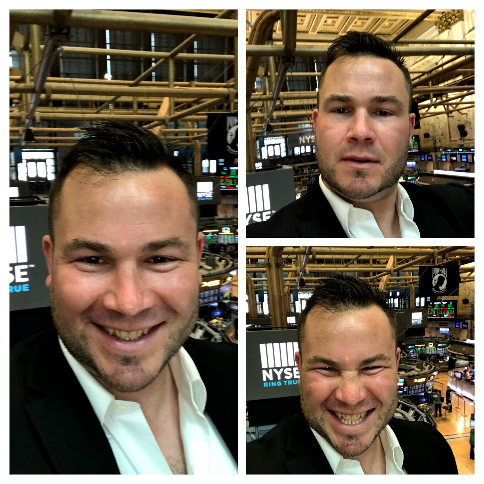 Tigh Loughhead selfie on the floor of the New York Stock Exchange