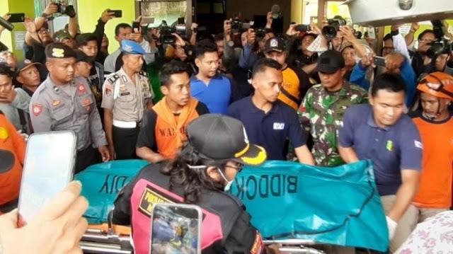 Korban ke-8 susur sungai SMPN 1 Turi, Sleman, yang ditemukan oleh tim SAR gabungan dipastikan bernama Nadine Fadilah.(Suarajogja.id/Julianto)