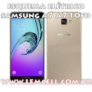 Esquema Elétrico Celular Smartphone Samsung Galaxy A7 A710 FD Manual de Serviço  Service Manual schematic Diagram Cell Phone Smartphone Samsung Galaxy A7 A710FD