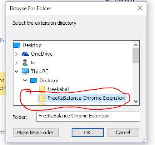 Freekabalance chrome extension