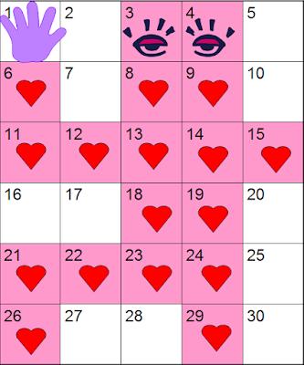Number Chart Robots 1 - 30