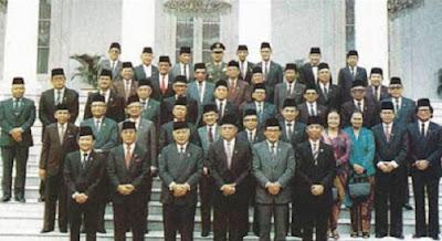 Presiden Indonesia beserta Kabinetnya Lengkap