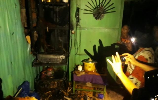Gara-gara Televisi Tua, Rumah Panggung di Bone Nyaris Ludes Dilalap Si Jago Merah