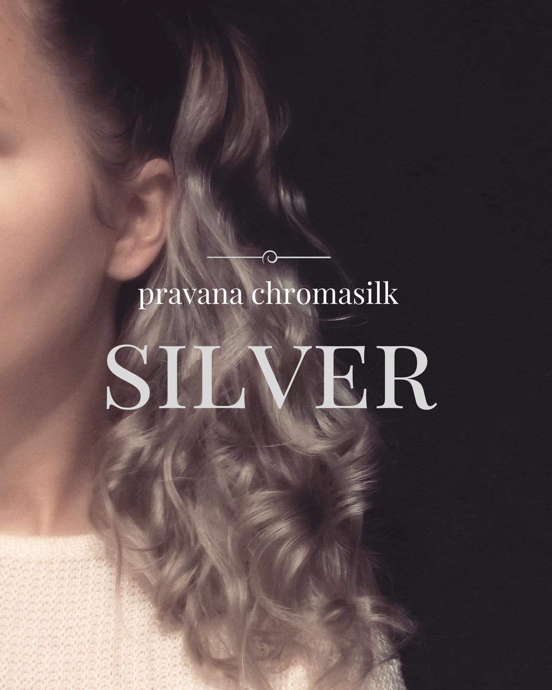 Szare włosy jak zrobić w domu farba Pravana Chromasilk Vivids Silver