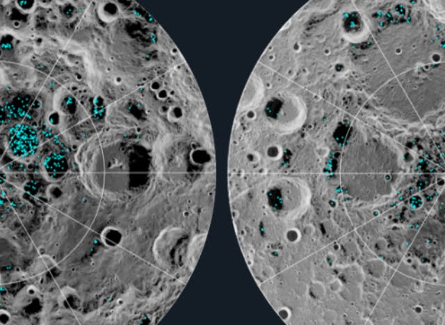 NASA conferma l'esistenza del ghiaccio sulla Luna.