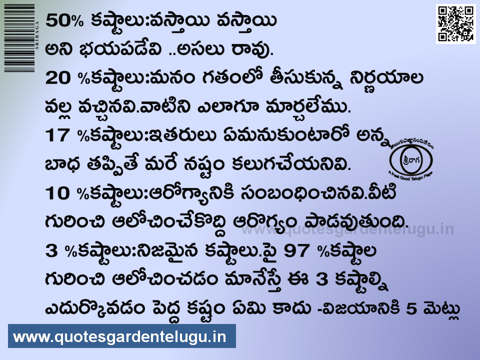 Yandamuri Quotes - inspirations from 5 steps to success - Best inspirational quotes - Best Telugu inspirational quotes