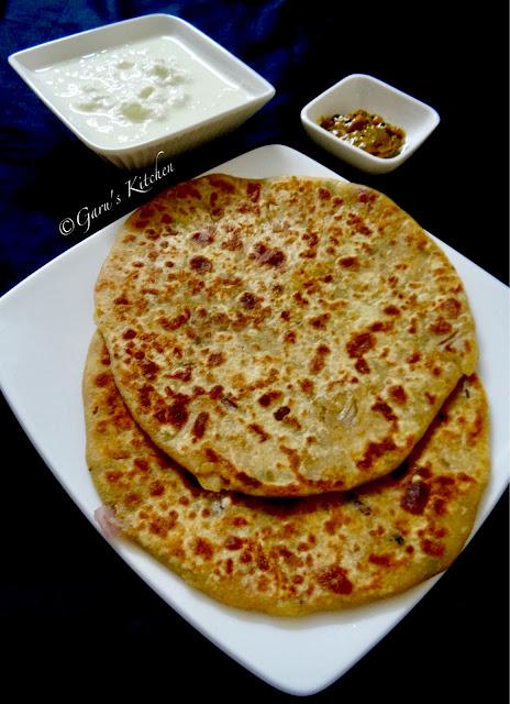 aloo pyaaz paratha recipe | flatbread stuffed with potato and onions | aloo paratha | how to make aloo paratha