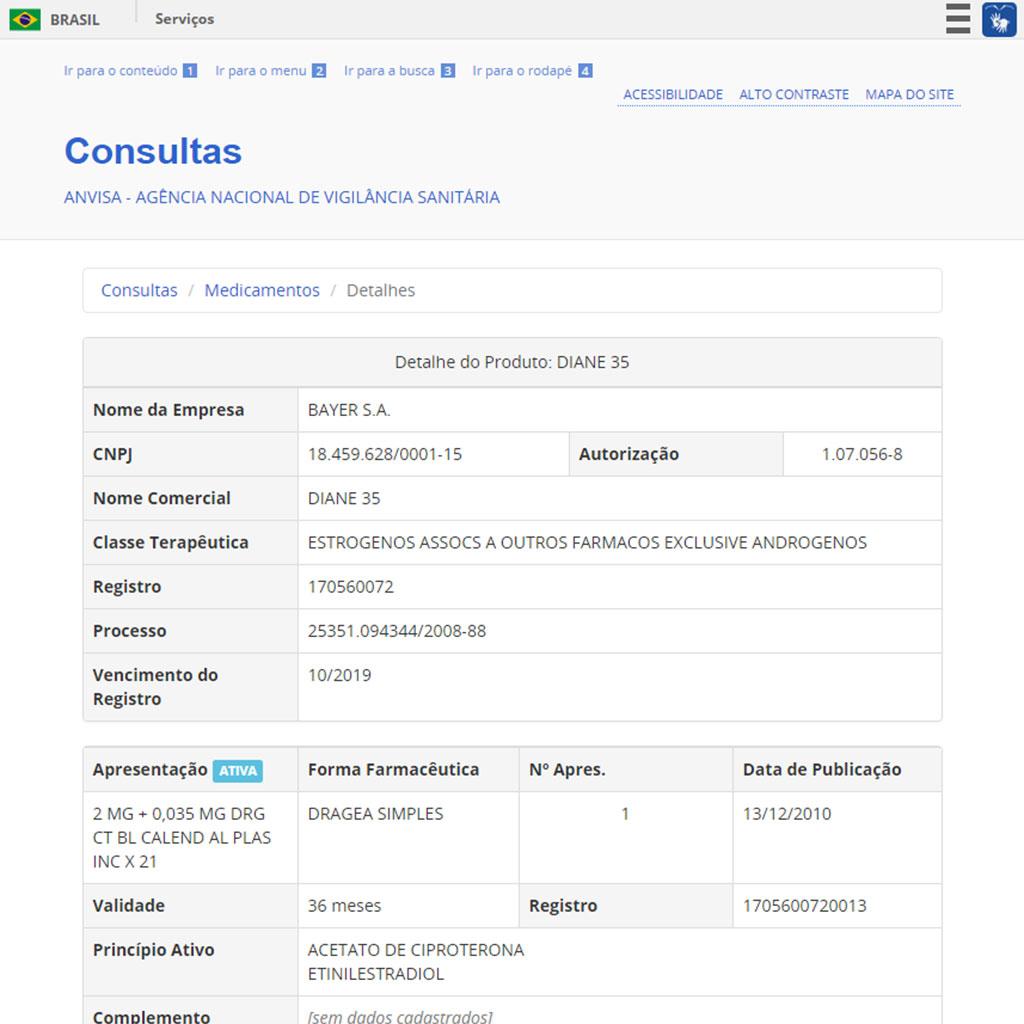 Consulta mostra detalhes sobre produto pesquisado. Foto: Reprodução