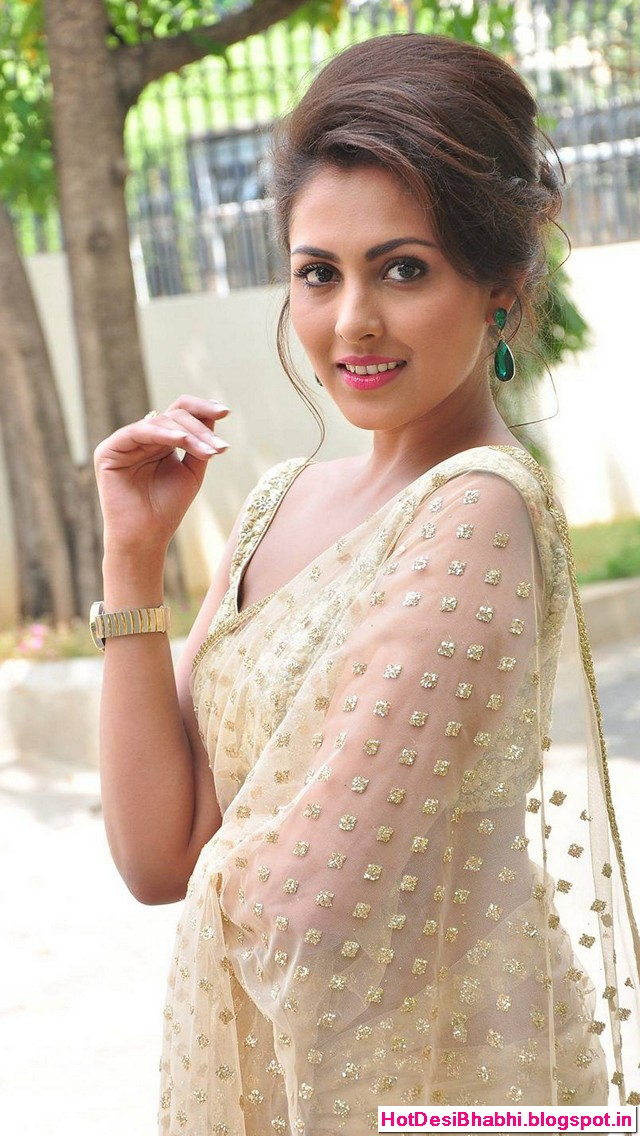 Madhu Shalini Hot in Saree Wallpapers