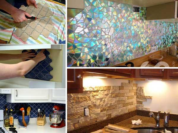 30 Cheap DIY Kitchen Back splash Ideas and Tutorials ...