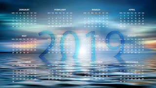 Kalender Puasa Wajib dan Sunnah Tahun 2019