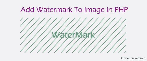 Add Watermark to Image in PHP