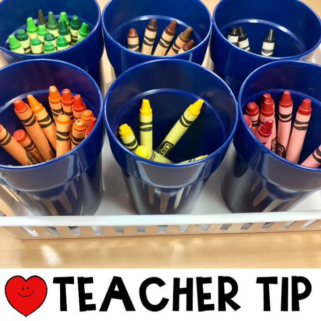 Crayon tips to help your classroom management with some classroom organization ideas! AND a freebie too! ♥