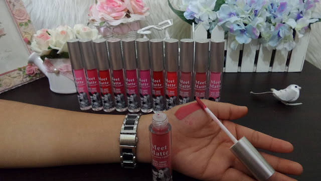 Lipgloss MEET MATTE Kiss Beauty MEET MATTE seri 1-12