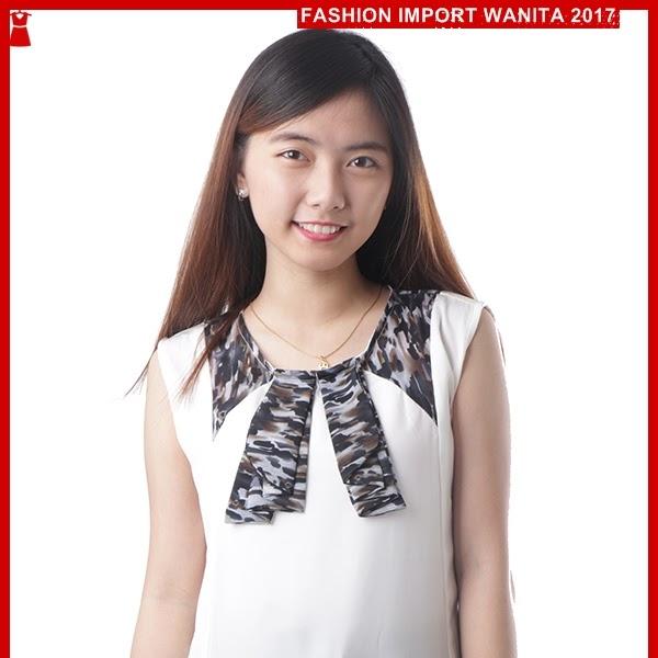 ADR104 Blouse Women Fancy Putih Import BMGShop