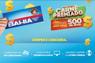Promoção Carnê Premiado Casas Bahia 2017