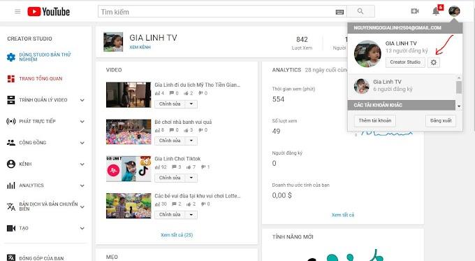 Hướng dẫn chuyển kênh chính youtube sang kênh phụ, kênh thương hiệu