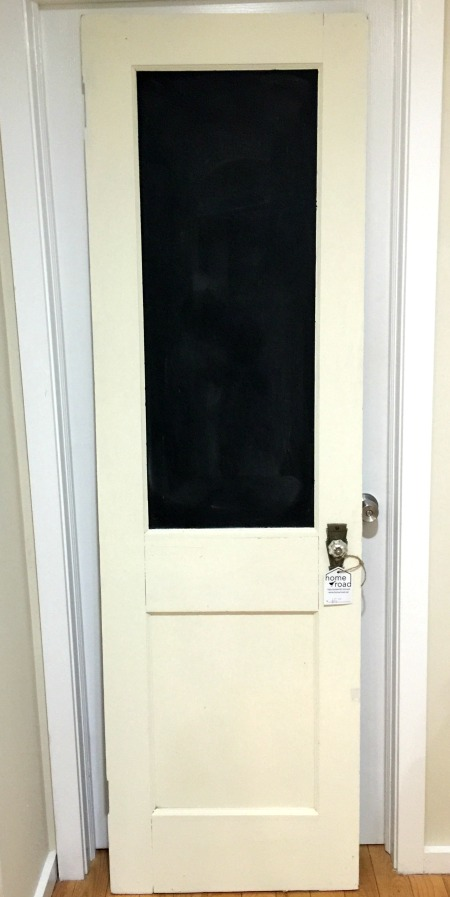 vintage door chalkboard DIY. Homeroad.net