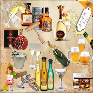 imagens PNG - óculos, barris , garrafas , cerveja, champanh