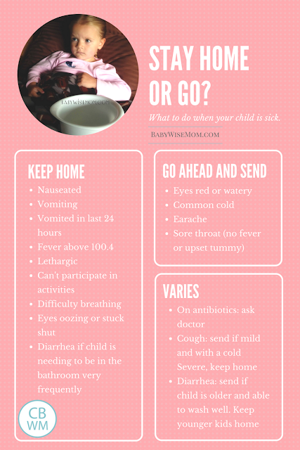 When to keep sick kids home infographic