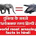 world most amazing facts in hindi || दुनिया के सबसे आश्चर्यजनक तथ्य
