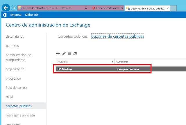 Exchange 2013, al que hemos llamado CF-Mailbox