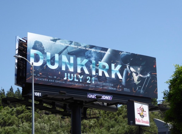 Dunkirk movie pilot billboard