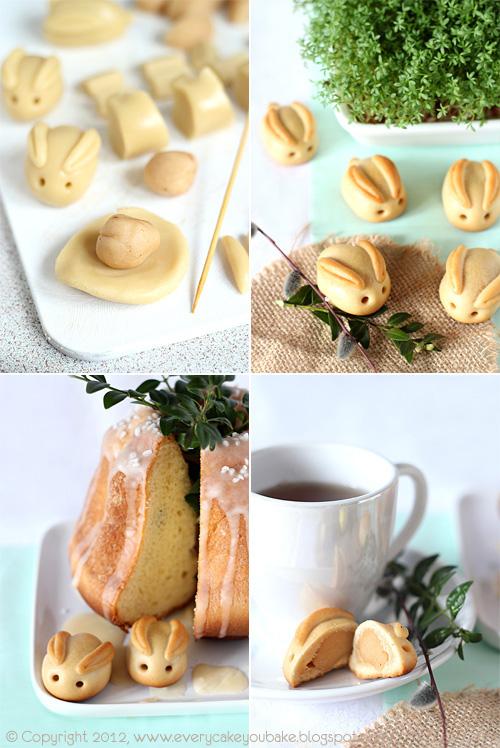 ciasteczka wielkanocne zajączki z marcepanem