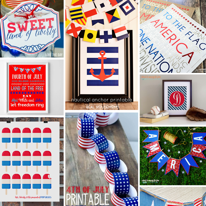 20+ Free Fourth of July Printables | Download some of these free patriotic printables for your seasonal decor and festivities!