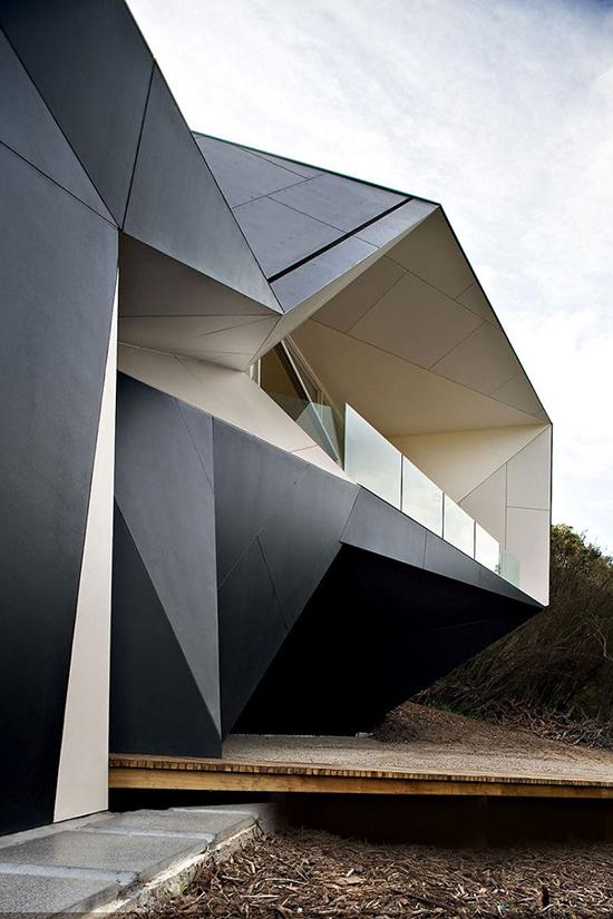 gambar Bangunan arsitektur dan origami