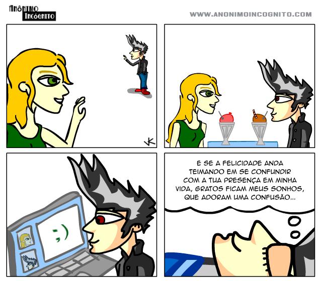 anonimo incognito em quadrinhos: confusao