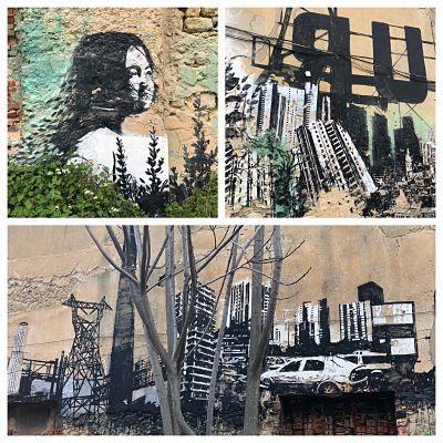 Lisboa. Zona Fabrica Braço de Prata. Grafittis