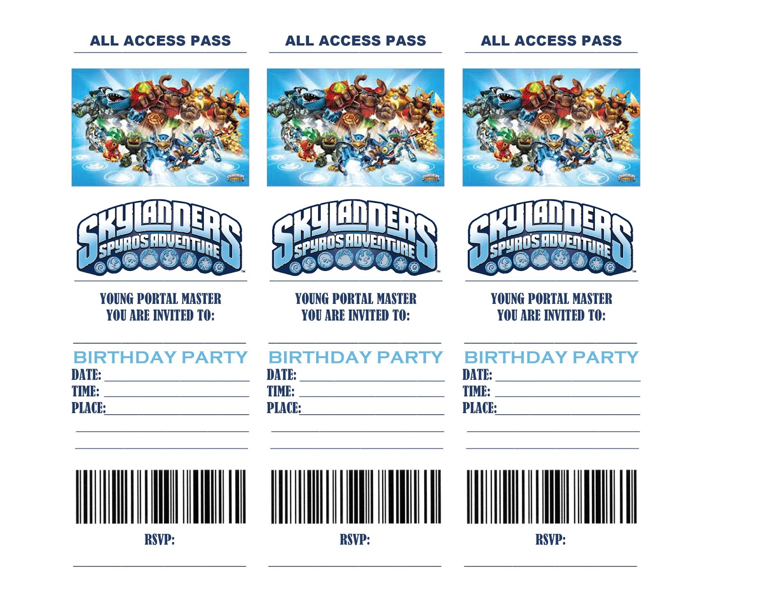 Life In A Larger Story Skylanders Birthday Party Invitations