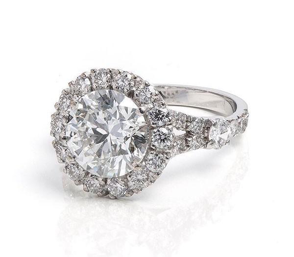 Anel Marina Ruy Barbosa noivado, diamantes