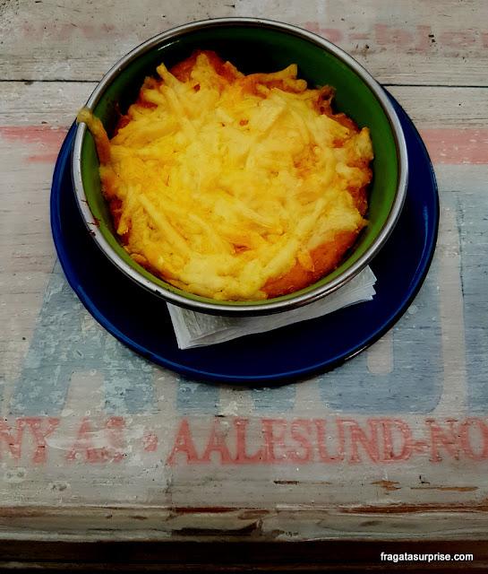 Potinho de siri cremoso do restaurante Lá da Venda, na Vila Madalena