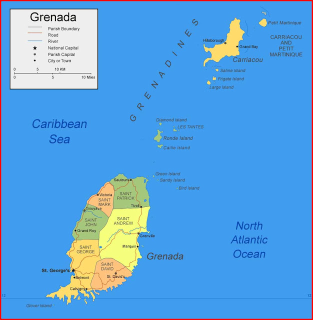 Gambar Peta Grenada