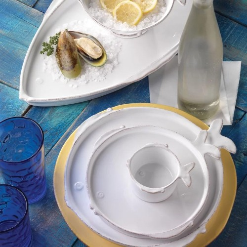 Vietri Fish Dishes, Platters, and Mugs
