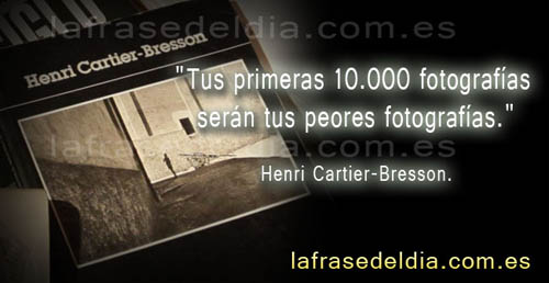 Frases fotográficas Henri Cartier-Bresson