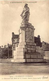 CPA monuments aux Morts du Puy-de-Dôme, Clermont-Ferrand