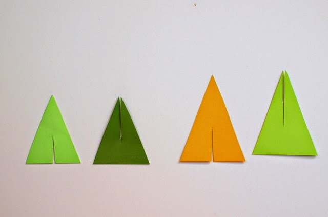 DIY tutorial for mini Christmas Trees