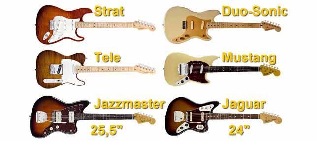 Diferentes Longitudes de Escala de las Guitarras Fender