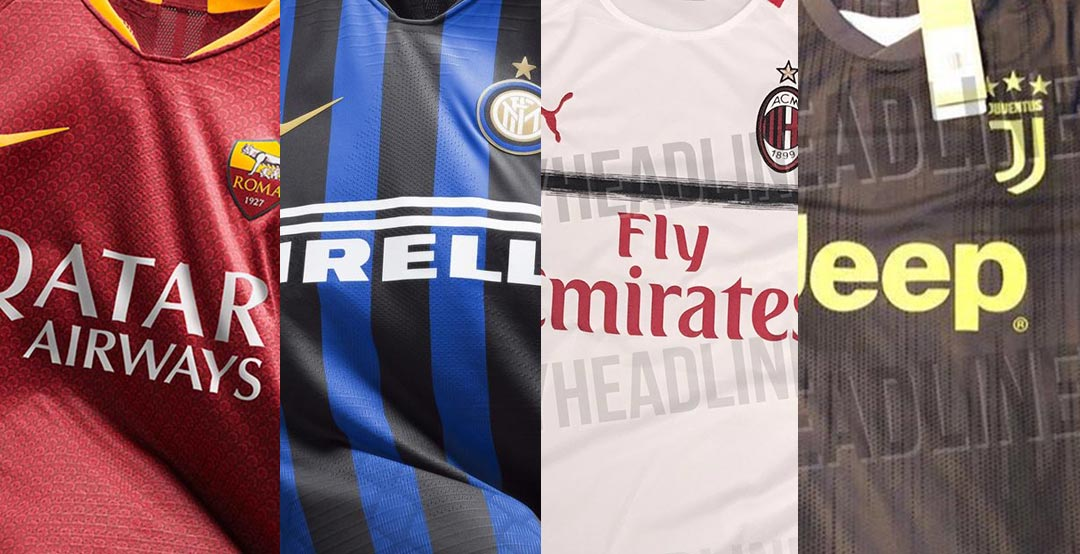 quality design 6c91d 439b8 Juventus, Inter, Milan, Roma & More - Here Are All 18-19 ...